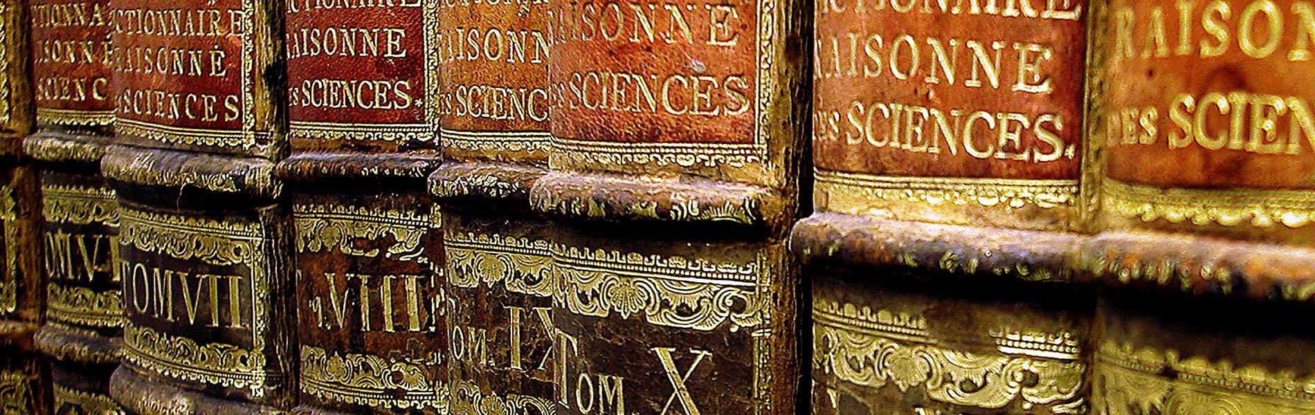 Äldre skinninbunden encyklopedi