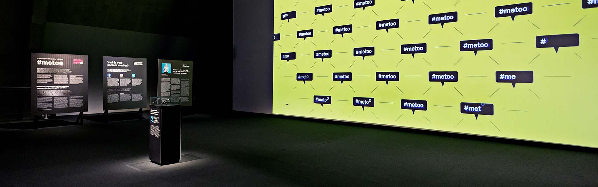 Film som beskriver uppropet #metoo på stor projektionsduk