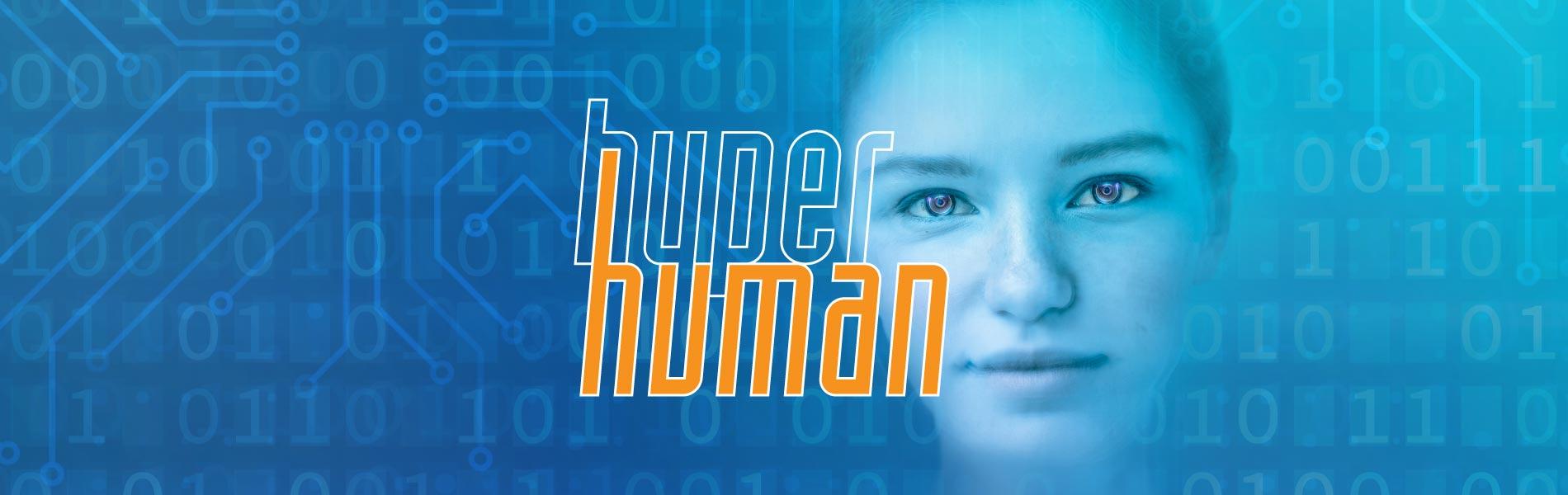 Futuristiskt ansikte och logotyp