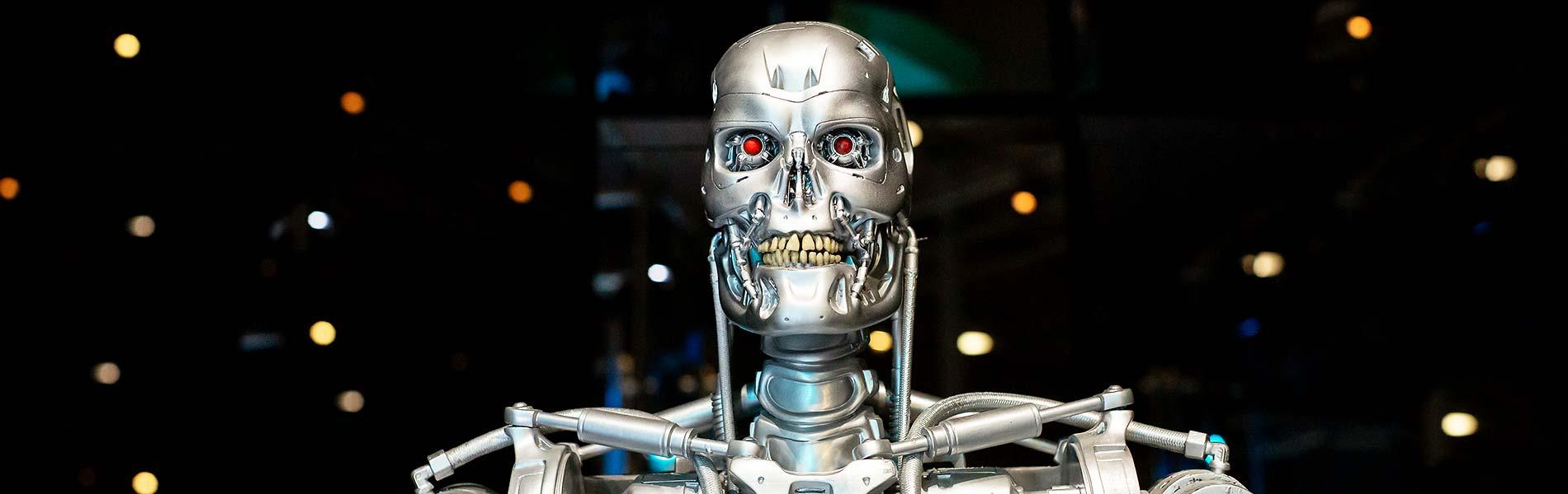 En av robotarna i utställningen Robots