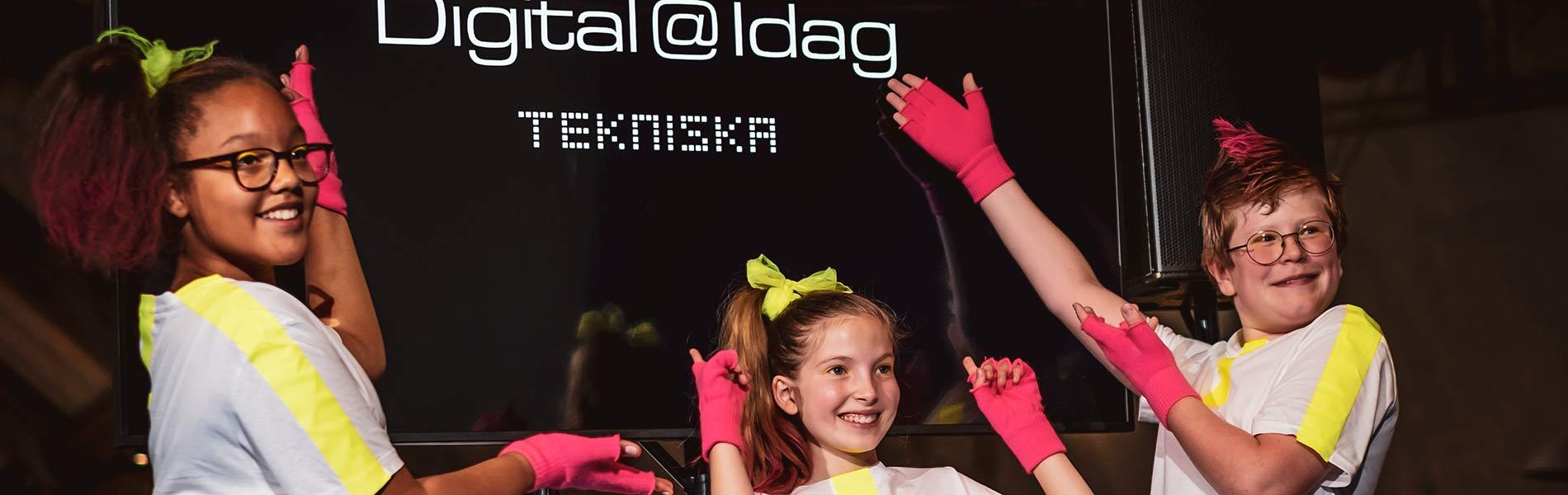 Elever från Kulturskolan visar AI-dans under Digital@Idag