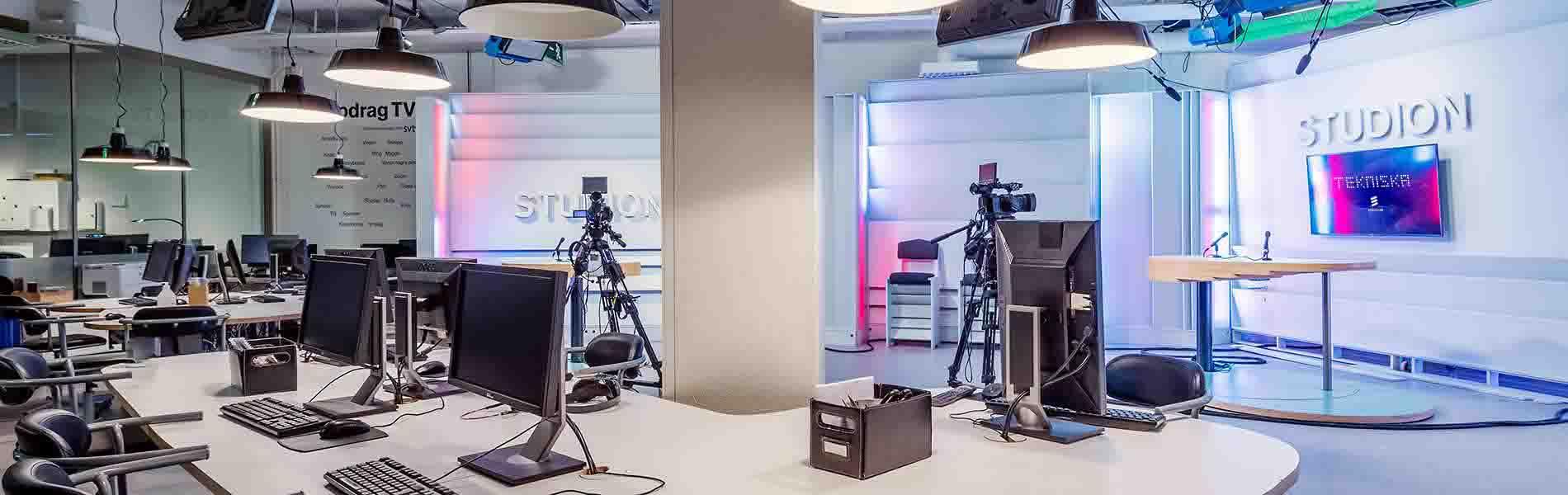 Tekniska museets studio för bokning av digitala event.