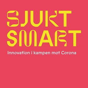 Logotyp till utställningen Sjukt smart